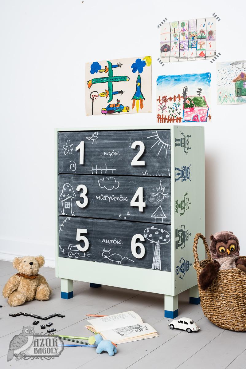 gyerekbútor festése - voc-mentes festék - Azúr Bagoly Tejfesték