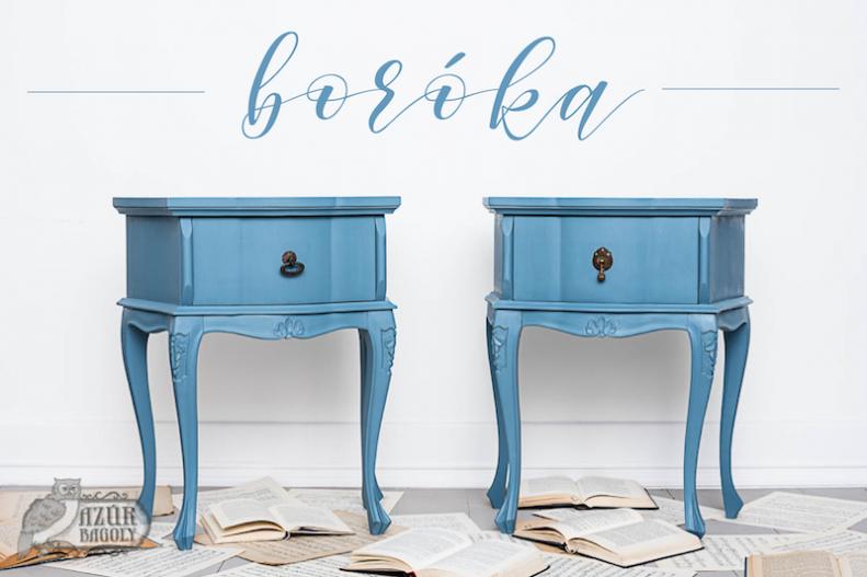 kék színű éjjeliszekrények vintage stílusban