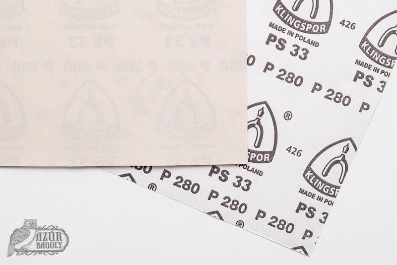 csiszolópapír méretek: a számozás jelzi a finomságot