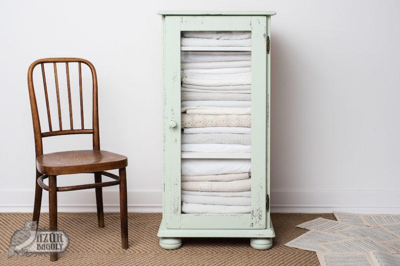 bútorfelújítás vintage stílusban Menta színű bútorfestékkel - Azúr Bagoly Tejfesték
