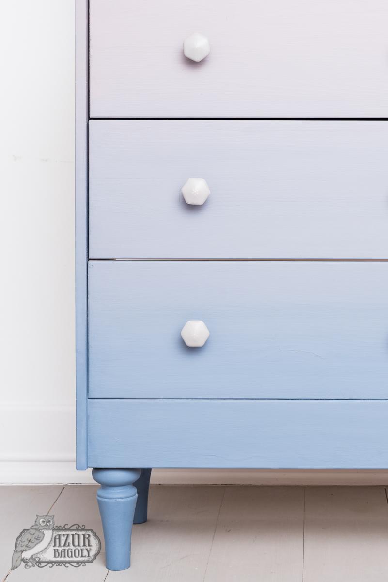 ombre - bútorfestés - IKEA-hack - Azúr Bagoly