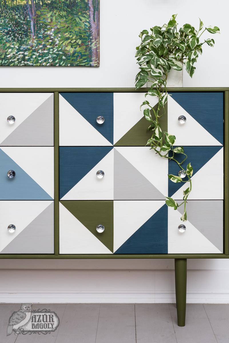 IKEA-hack - RAST komód - bútorfestés modern stílusban - sideboard házilag - azúrbagoly