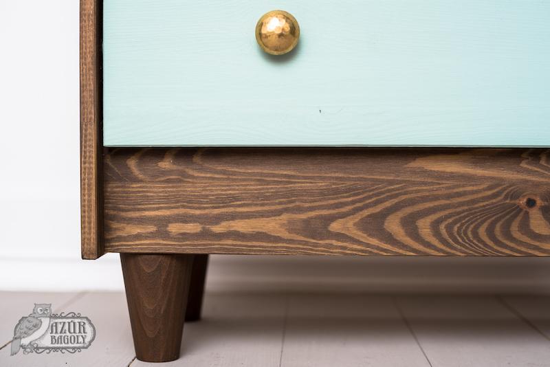 IKEA bútor festése - IKEA-hack - RAST komód - Azúr Bagoly