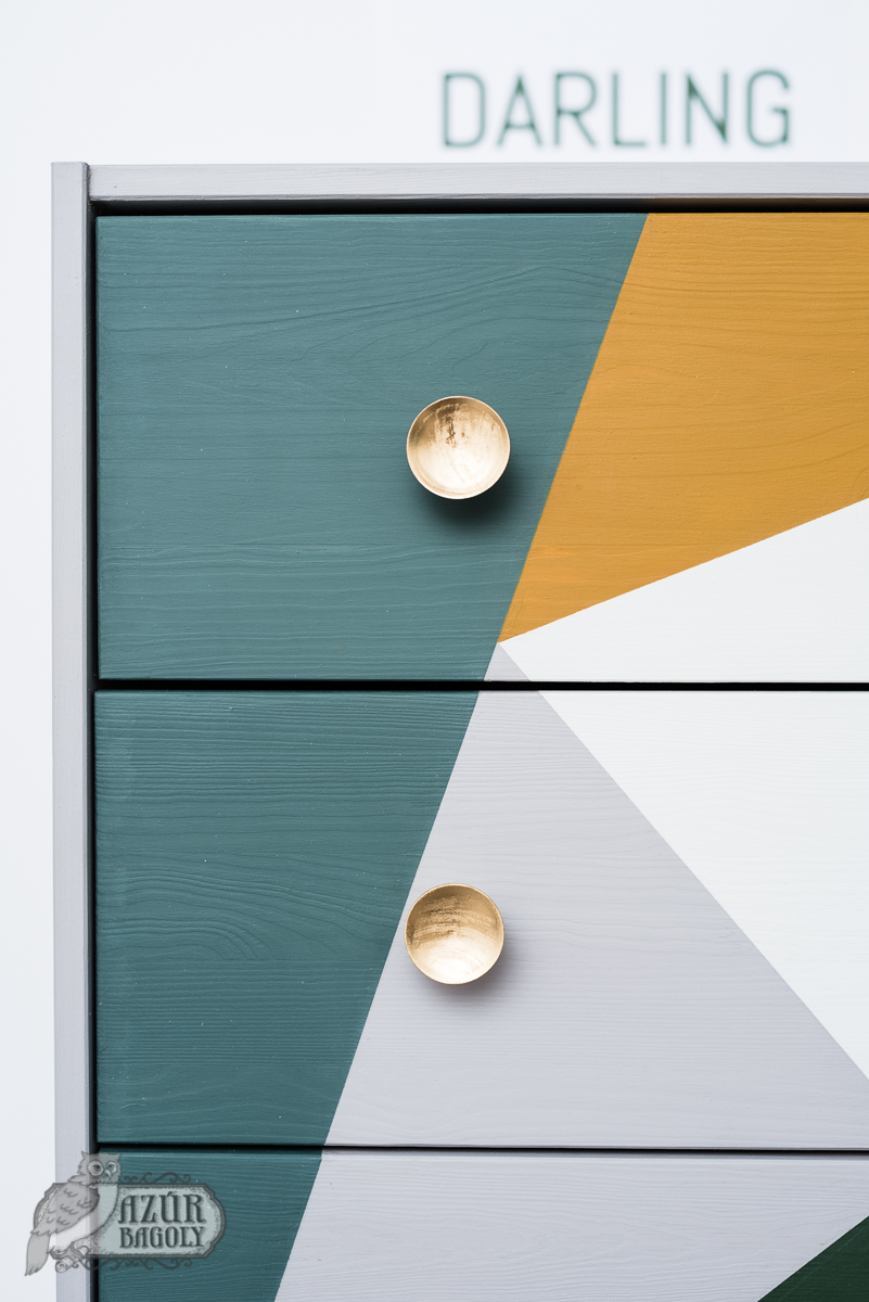 kreatív bútorok házilag - IKEA-hack - RAST komód - Azúr Bagoly