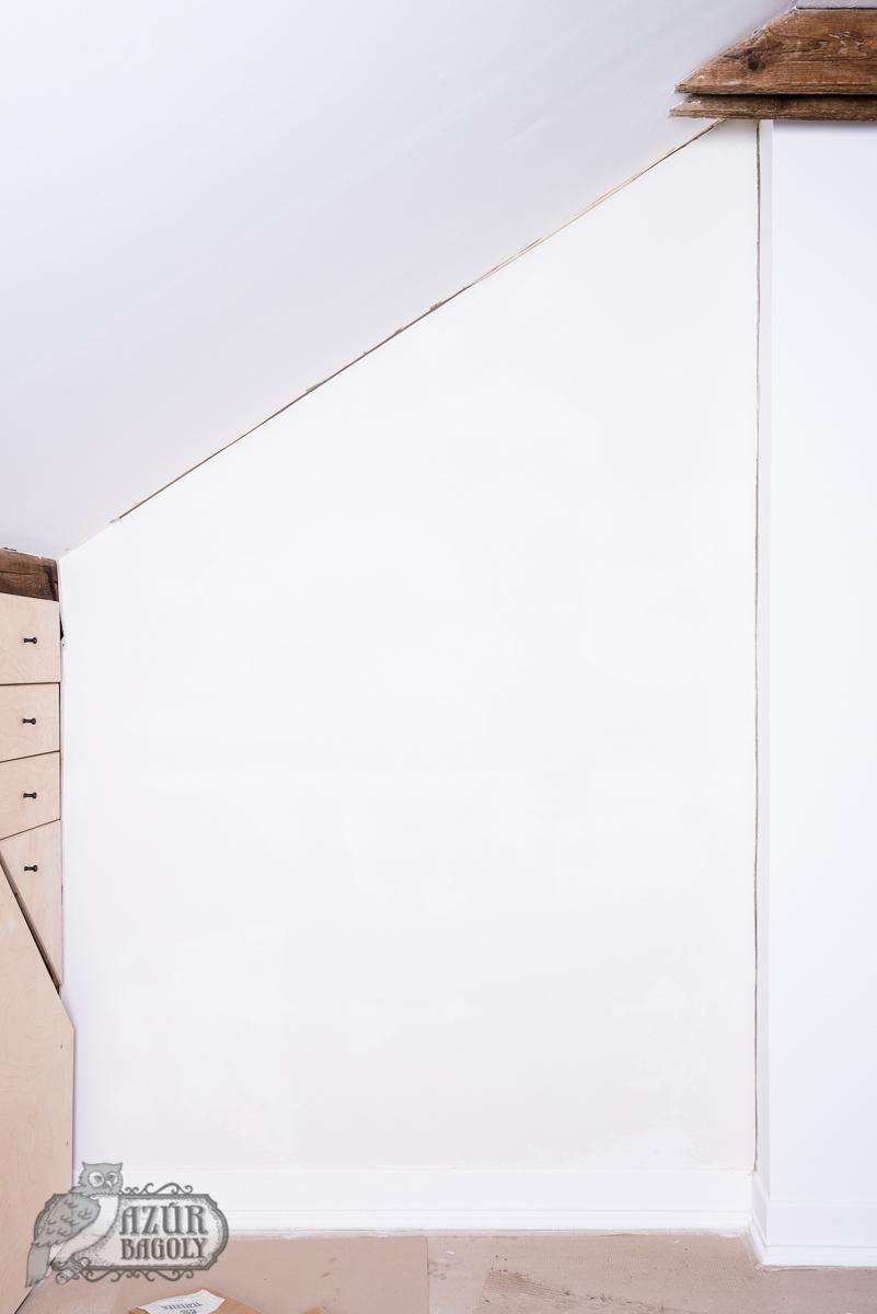 festéshez előkészített fal