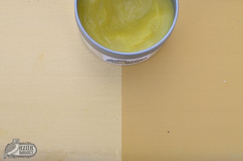 a viaszolás néhány árnyalattal sötétíti a tejfesték színét