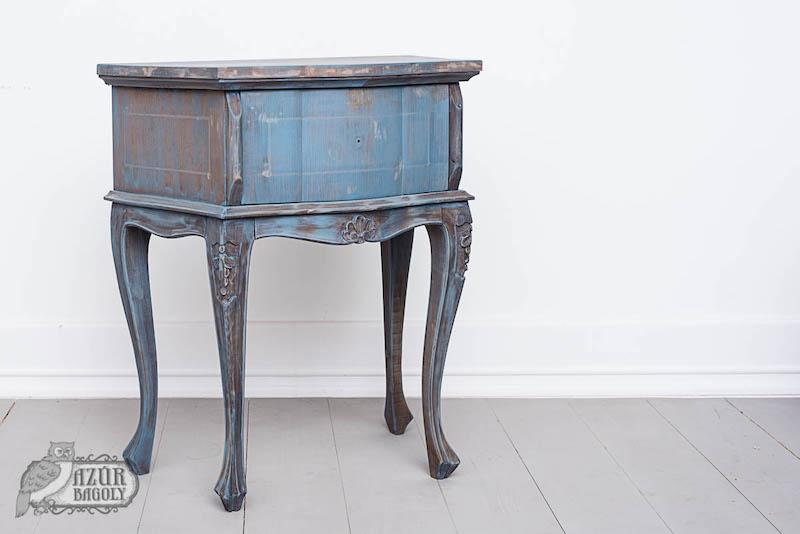bútorfestés házilag: a második lépés a festék felvitele – Azúr Bagoly