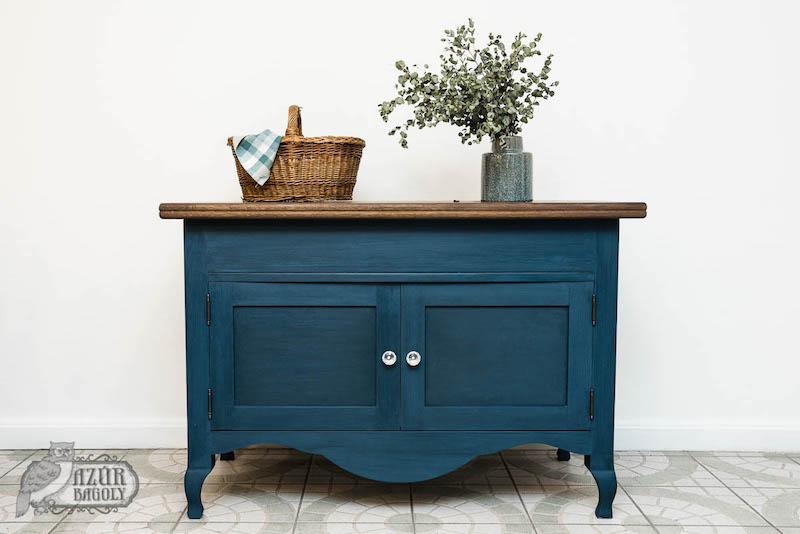 bútor felújítás ötletek – rusztikus mosdószekrény – Azúr Bagoly