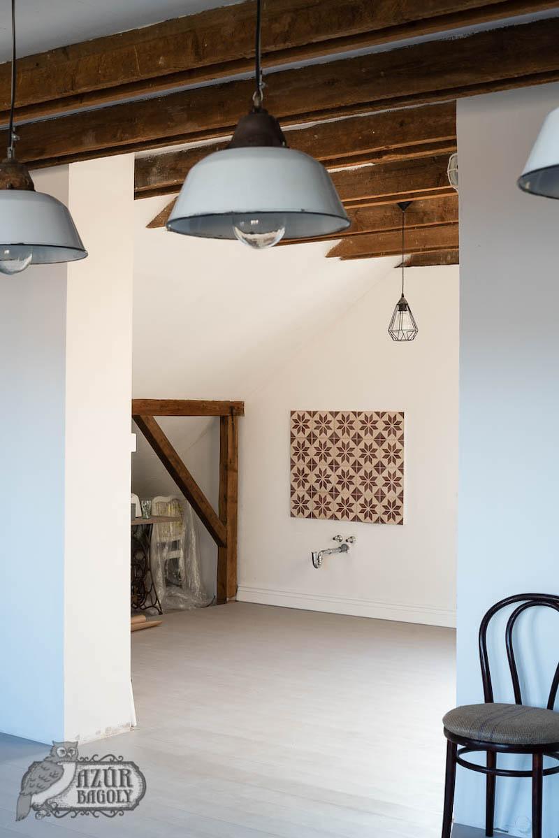 padlófestés - festett fapadló - szürke parketta - Azúr Bagoly Tejfesték