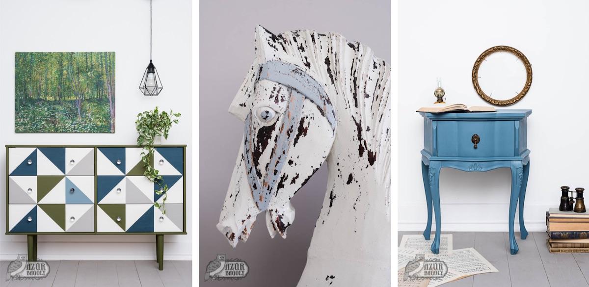 bútorfestés - modern - rusztikus - vintage - Azúr Bagoly