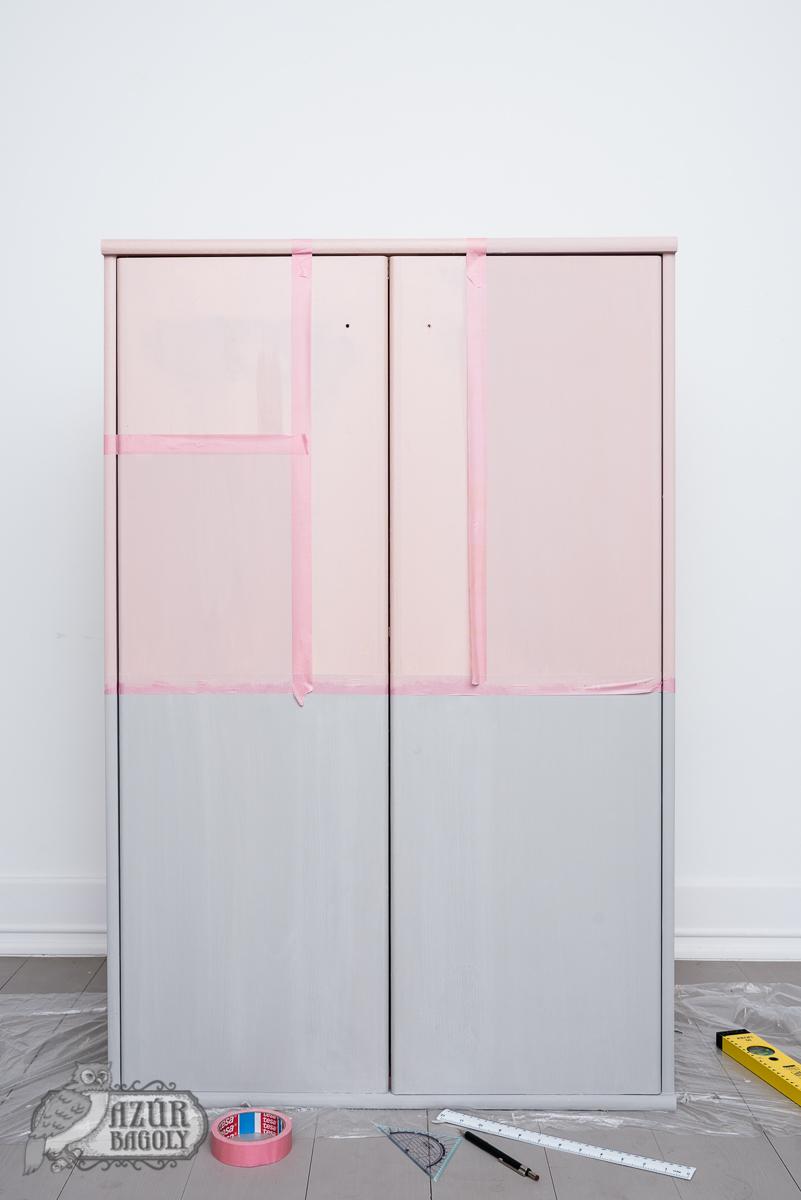 bútorlap festése – laminált bútor festése – azúrbagoly – tejfesték