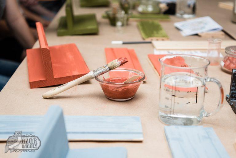 bútorfestő workshop – Azúr Bagoly – bútorfestés-tanfolyam