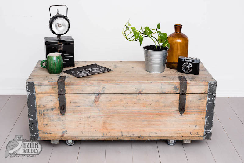 bútorfelújítás - vintage stílus - fenyő fehérítése