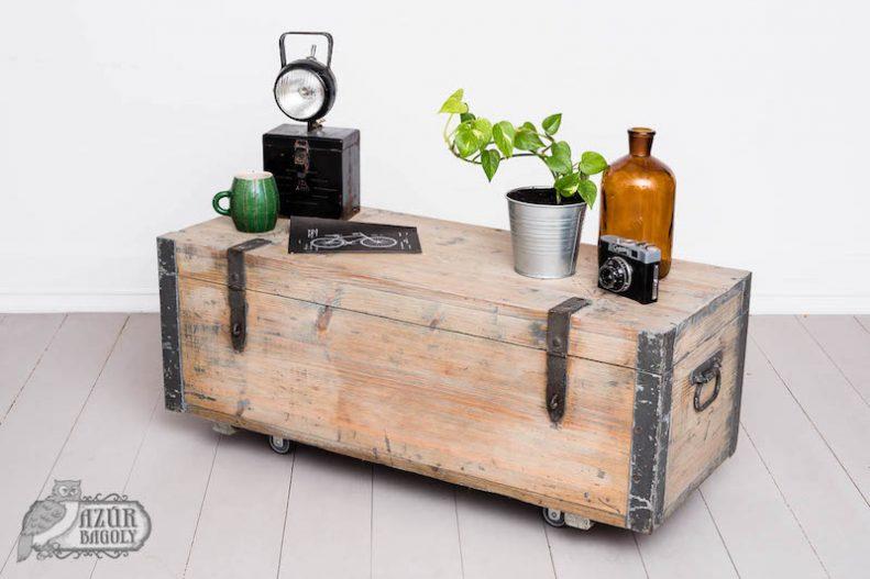 bútorfelújítás - vintage bútor - fenyő fehérítése