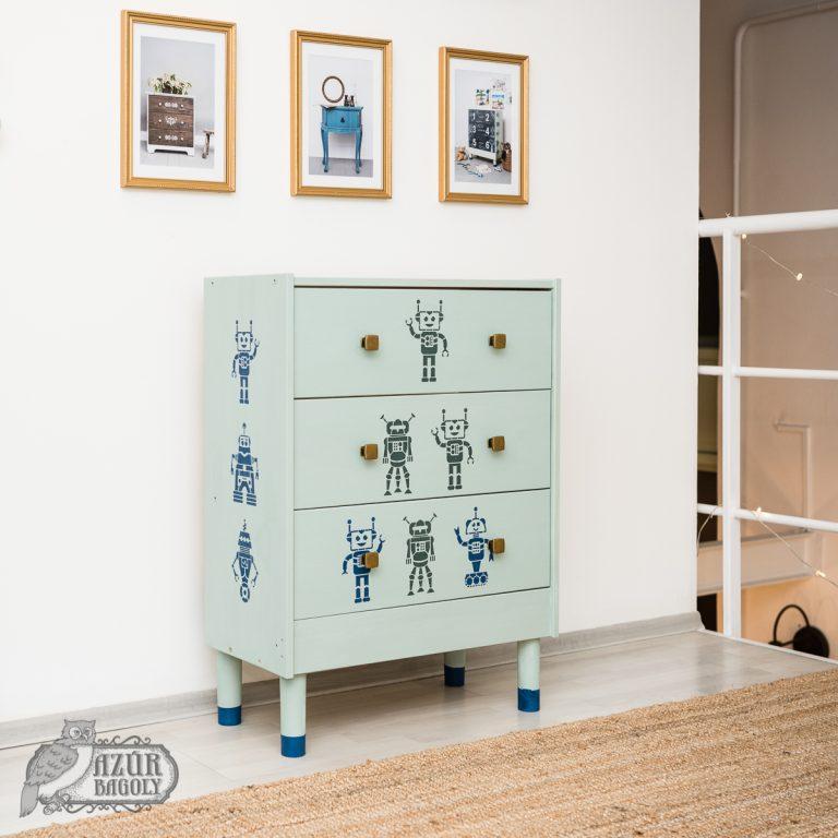 bútorfestő workshop - Azúr Bagoly - IKEA-hack
