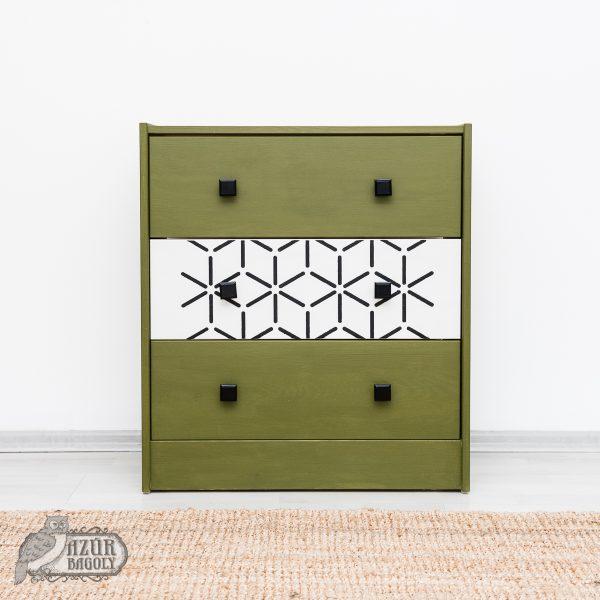 tejfesték - bútorfesték - Olíva - Azúr Bagoly - milk paint - bayberry green