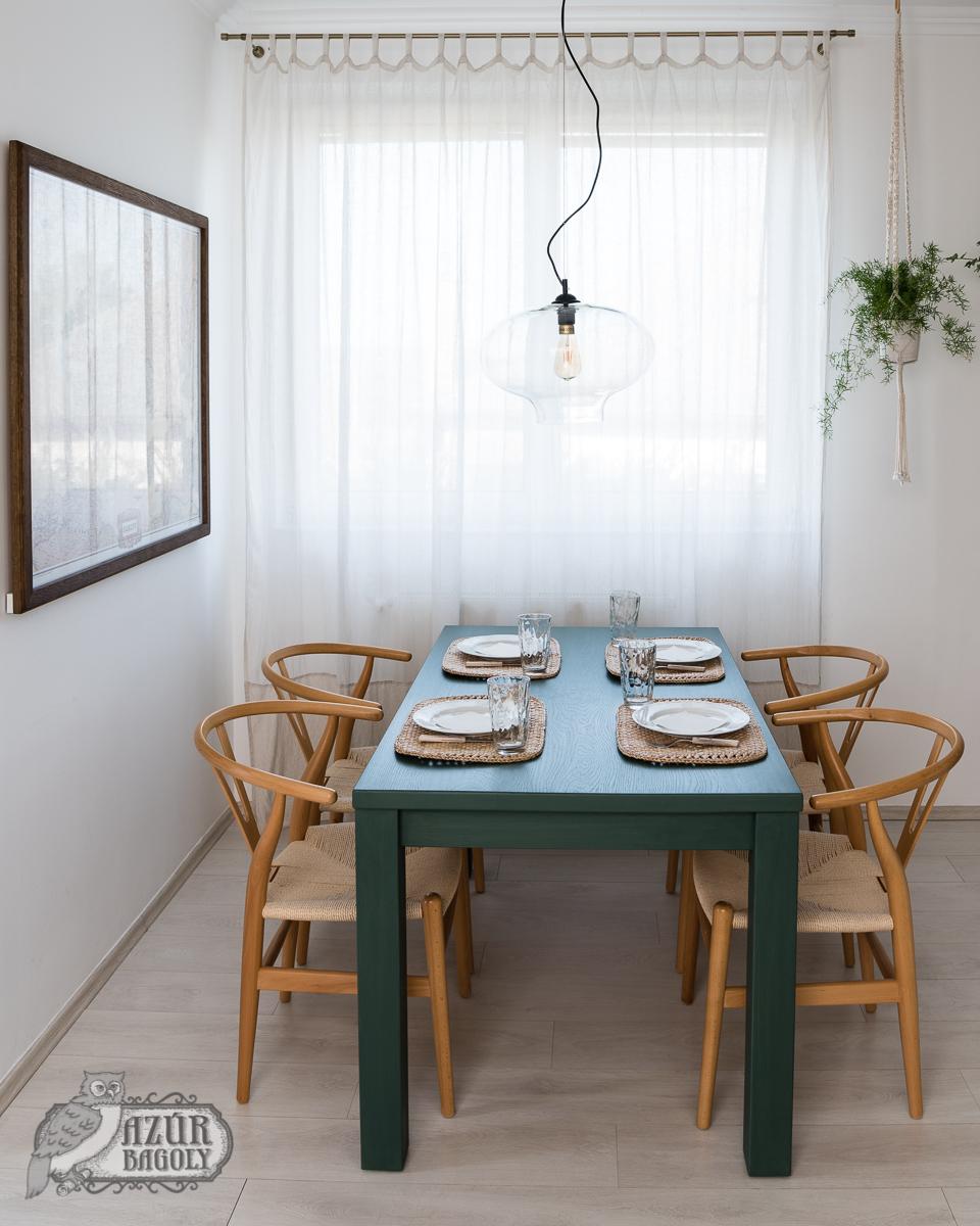 az étkező átalakítása - Azúr Bagoly - bútorfestés