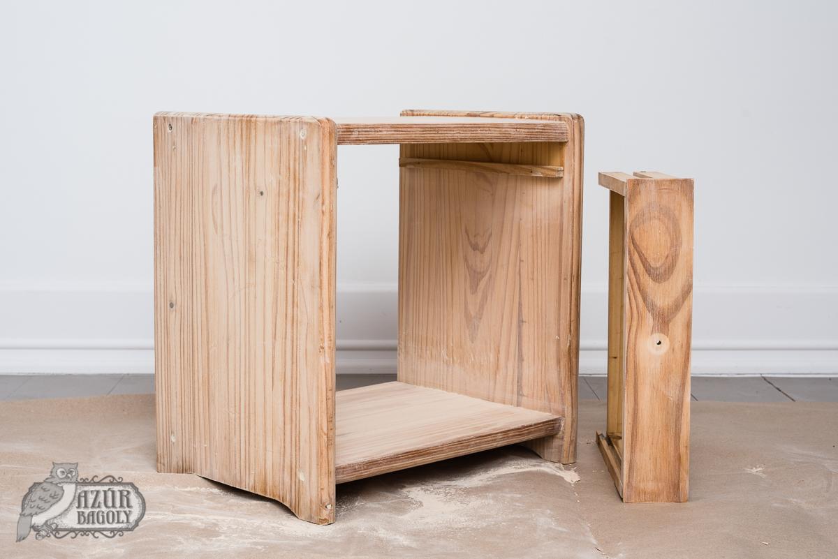 lakkozott bútor festése - Azúr Bagoly