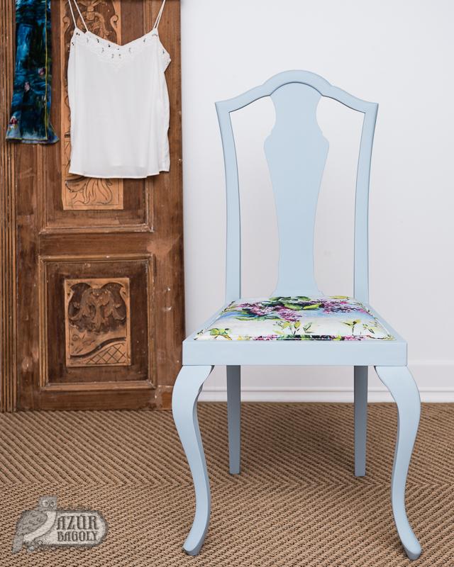 bútorfestés – szék-felújítás házilag vintage stílusban – Azúr Bagoly