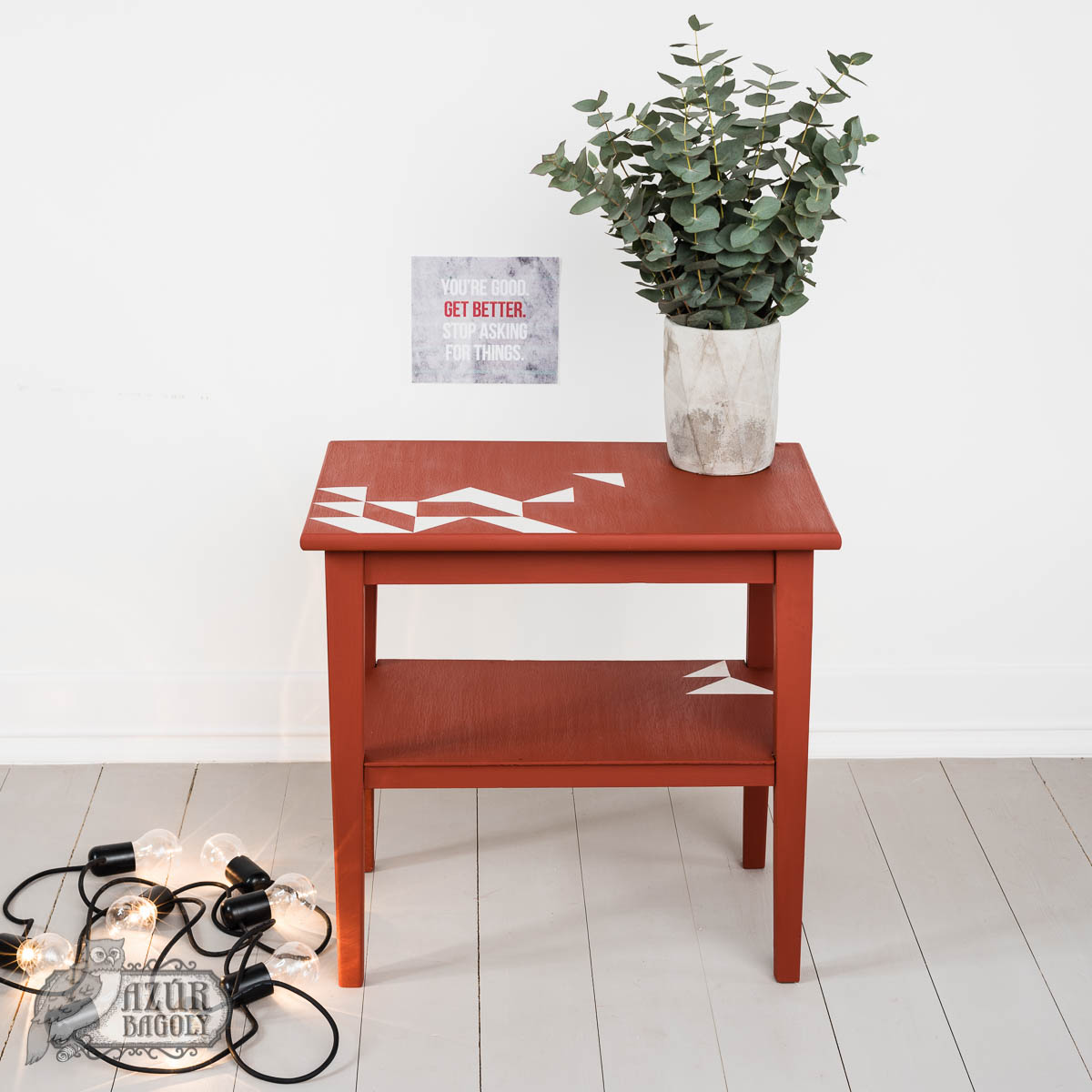 bútorfestés – bútorfelújítás – fiatalos, modern, friss – Azúr Bagoly Tejfesték
