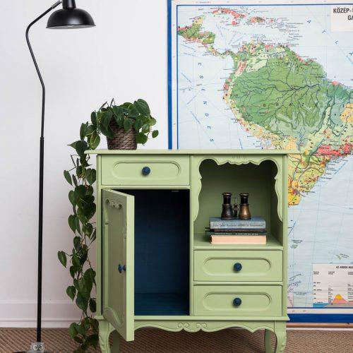 bútorfestés – Azúr Bagoly Tejfesték